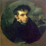 Orest Adamovich Kiprenskii (1778-1836)  Portrait of Vasily Zhukovsky  Oil on canvas, 1815  The State Russian Museum, St. Petersburg, Russia